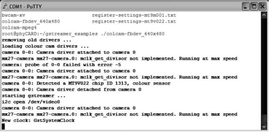 Beispielskript für den Livebild-Test der Kamera