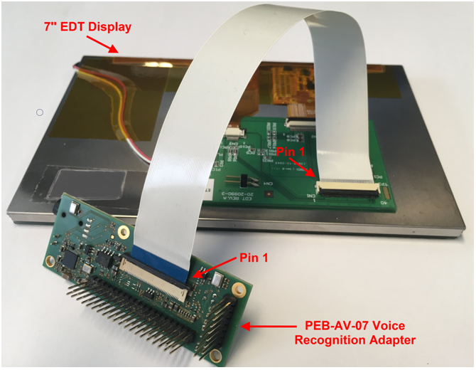 PEB-AV-07 adaptor and EDT Display assembly (complete)