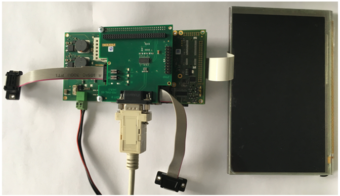 phyBOARD-Mira with attached RS-232 cable
