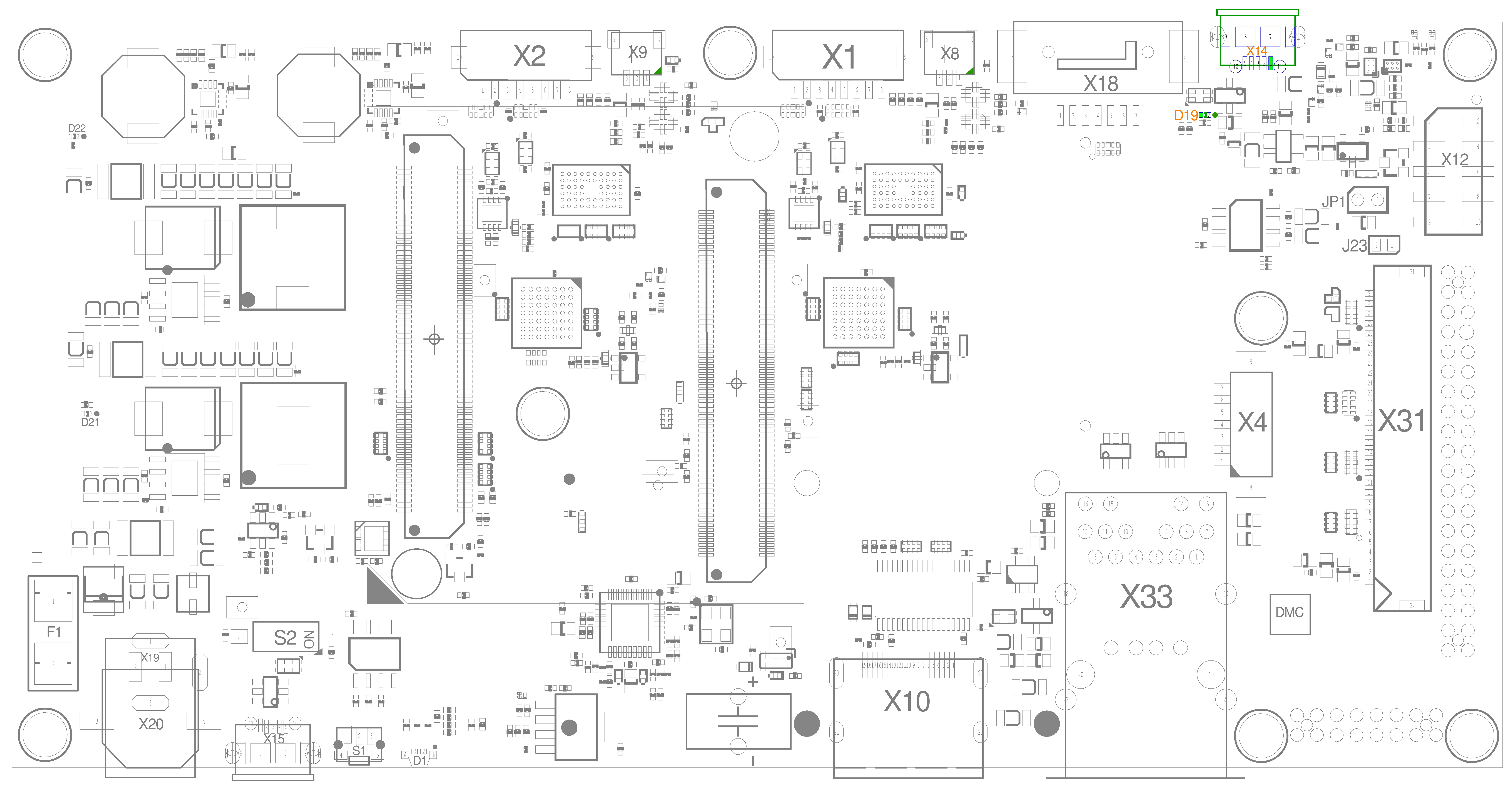 USB OTG (X14) with LED (D19)