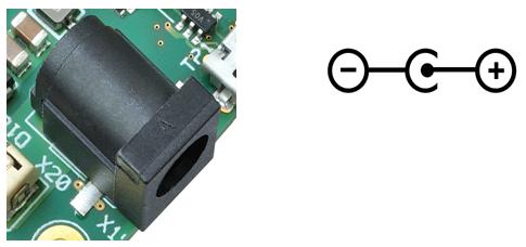 Barrel Connector (X19) with polarity