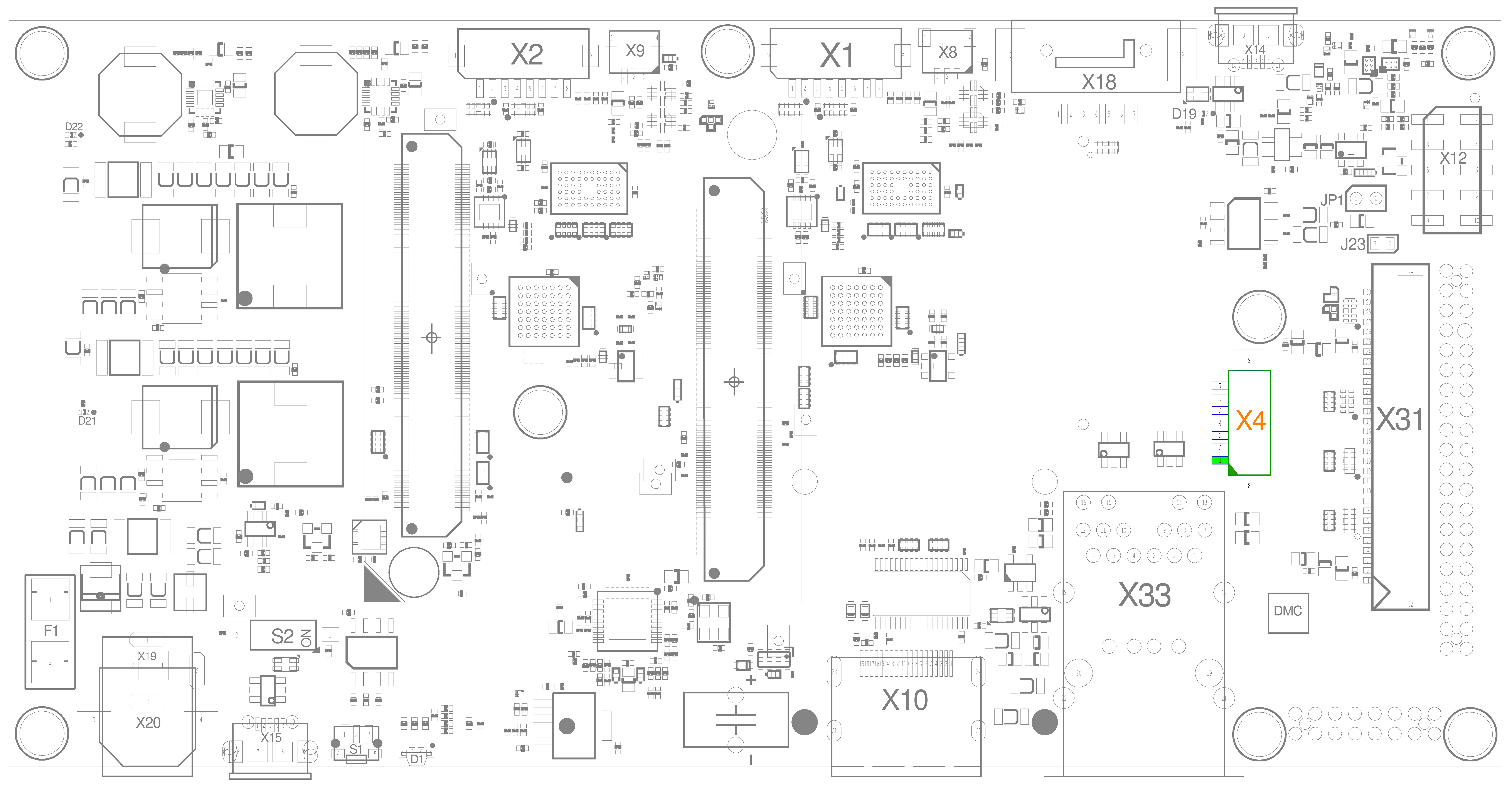 Backlight and Display Control Connector (X4)