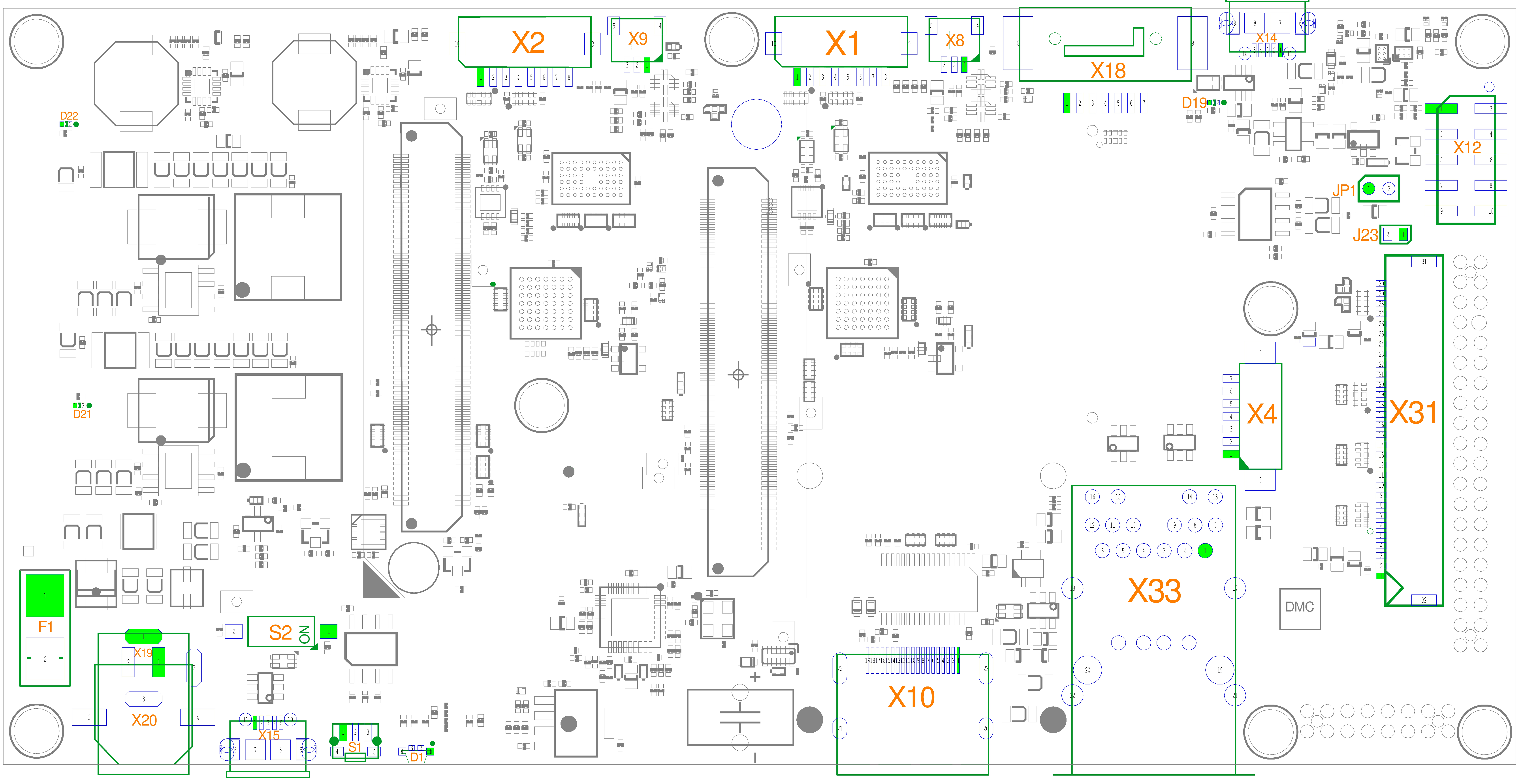 phyBOARD-Nunki i.MX 6 Component Placement (Top)