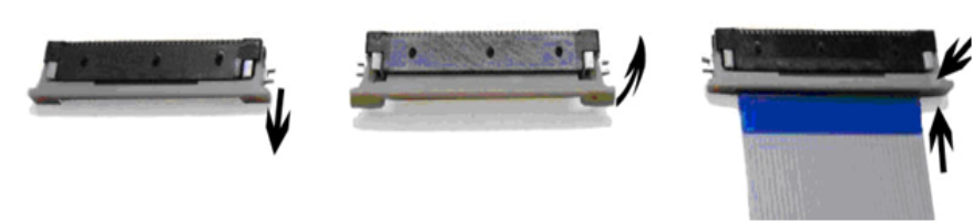 Kameraverbindung FFC-Buchse herstellen (phyCAM-P - Shift-Lock)