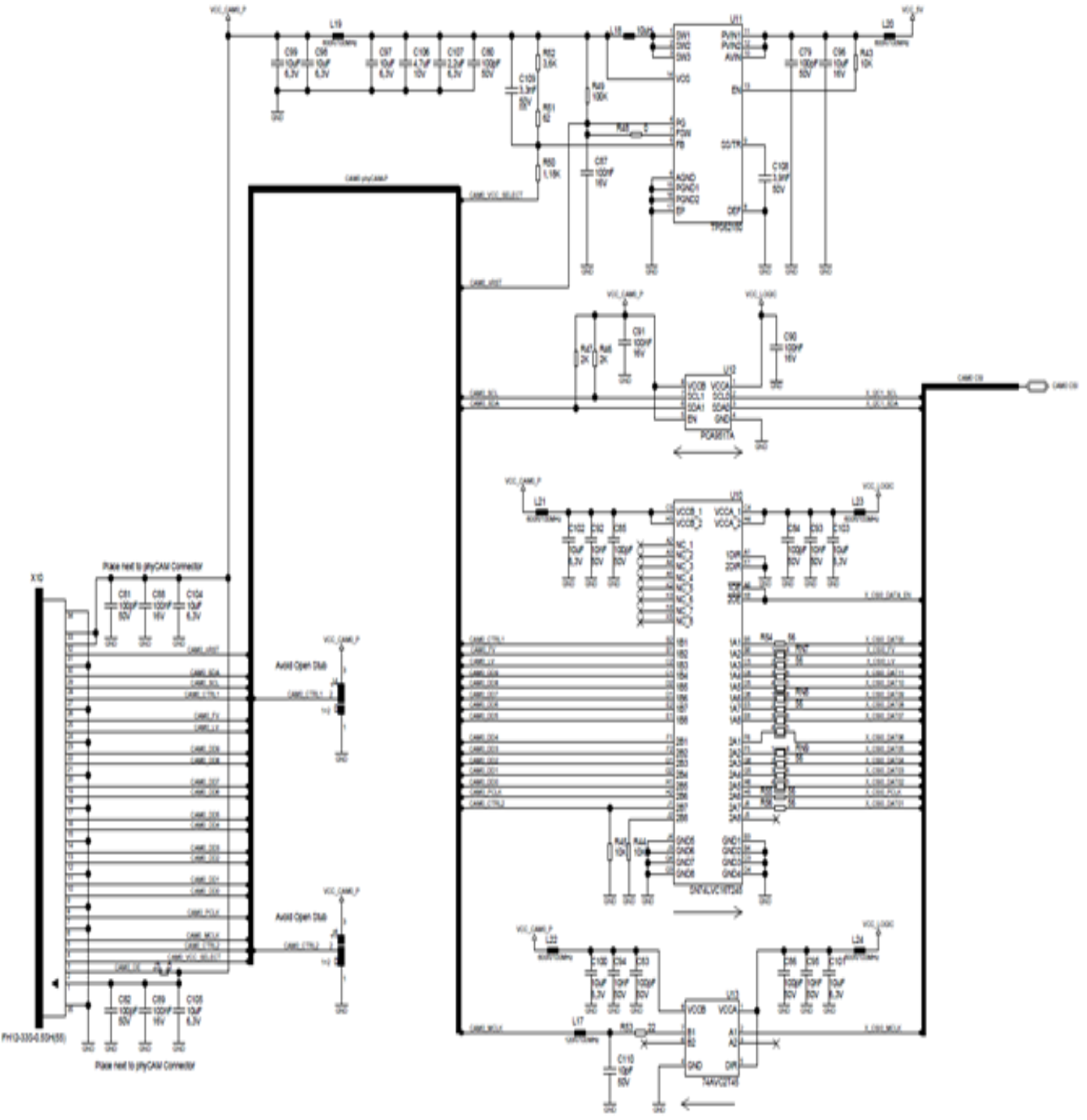 phyCAM-P Reference Circuit Diagram for Highest Compatibility
