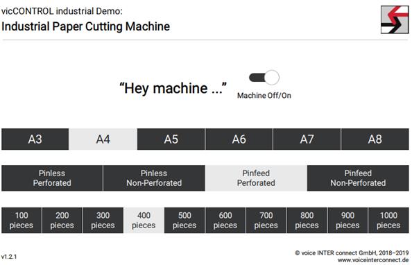 Industrial Paper Cutting Machine demo