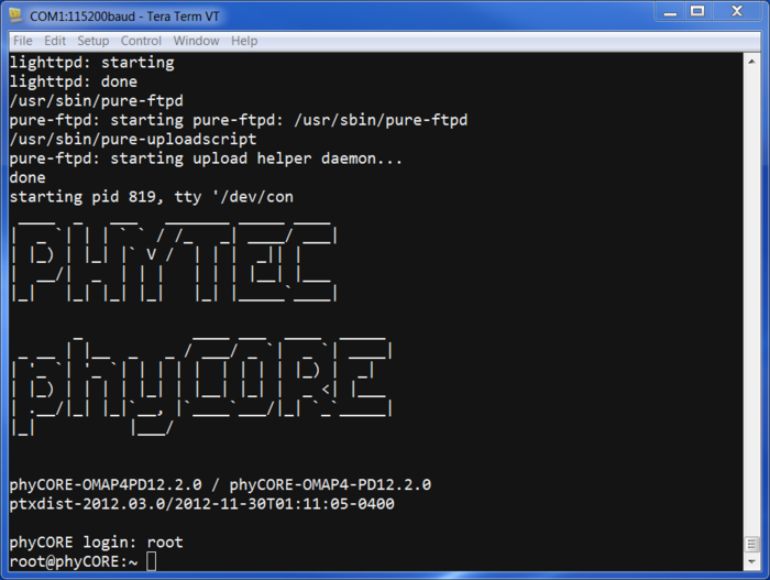 PhyCORE-OMAP44xx Linux Quickstart PD12 2 0 - Develop phytec - undefined