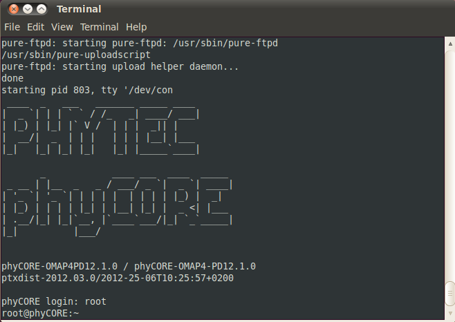 PhyCORE-OMAP44xx Linux Quickstart PD12 1 0 - Develop phytec