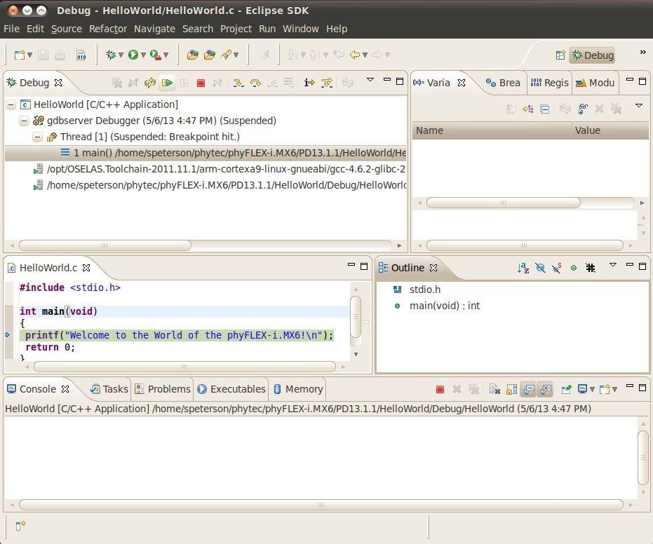 PhyFLEX-i MX6 RDK Linux Quickstart PD13 2 x - Develop phytec
