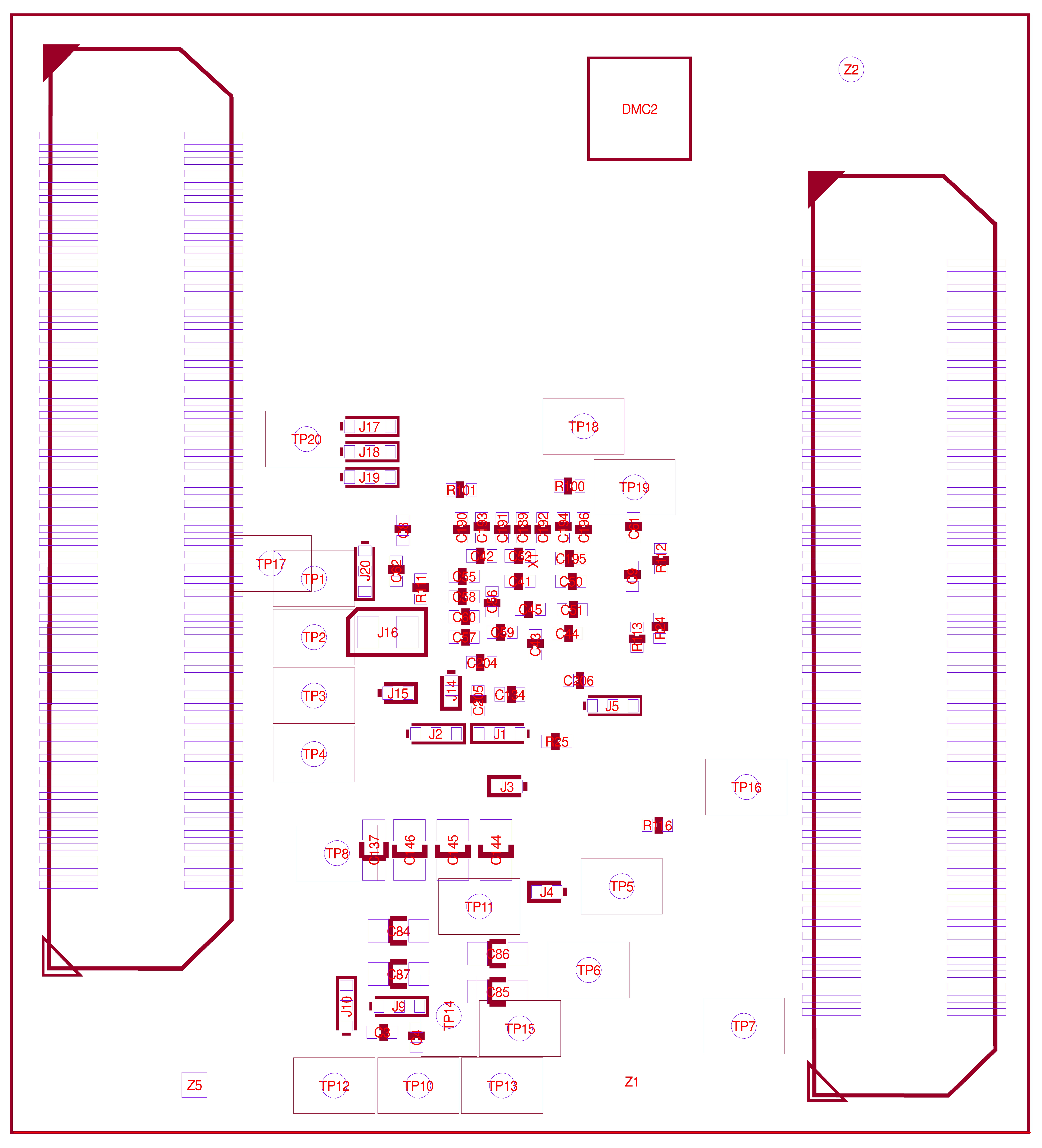 phyCORE-STM32MP1 Component Placement (Bottom View)